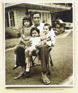 6  Grand Father Iftikhar Ahmed with SRK, Lala Rukh and cousin Tasneem Fatima.jpg